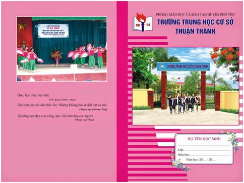 Mẫu vở học sinh trường THCS Thuận Thành